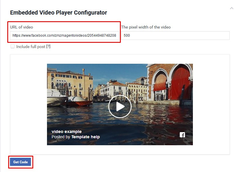How To Embed A Facebook Video In WordPress Template Monster Help - Facebook video template