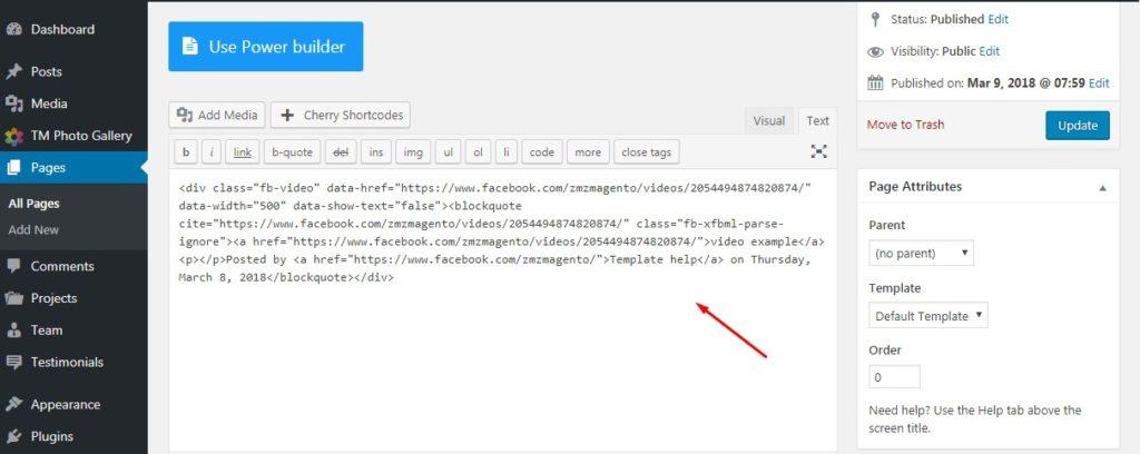 html in a wordpress site title
