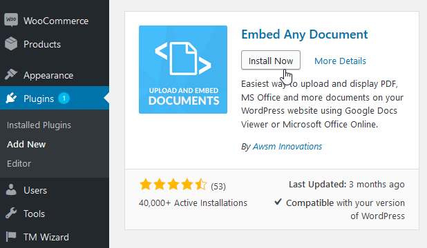 How to add a PDF viewer in WordPress - Template Monster Help