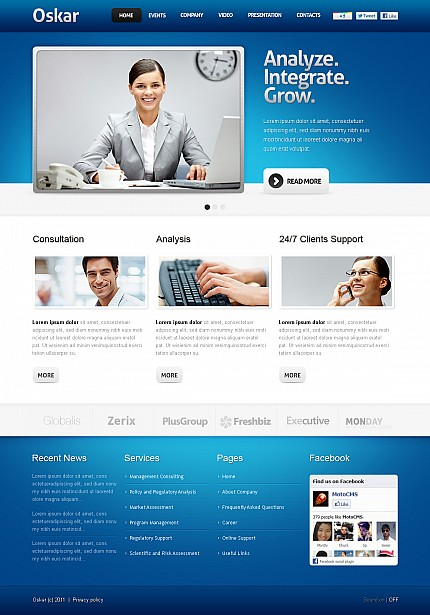 Monster Web Template. website templates free web templates free ...