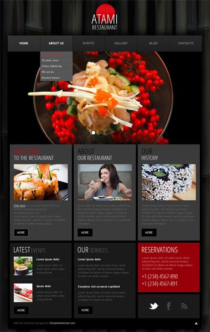 Free WordPress Theme - Restaurant