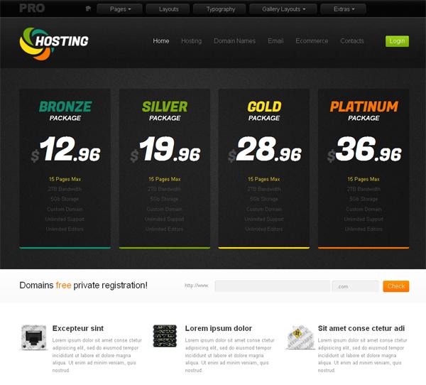 Шаблоны хостинг сайтов бесплатной хостинг для серверов
