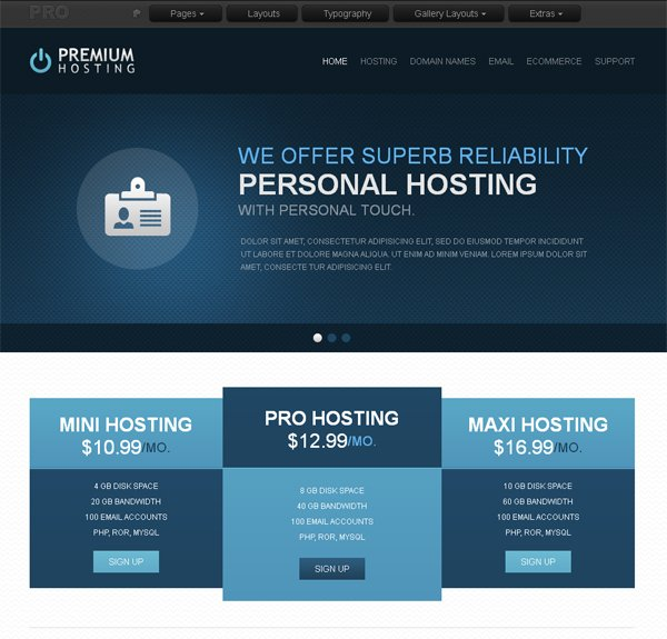 Дизайн для хостинговой создание веб-сайтов разновидность веб-страница