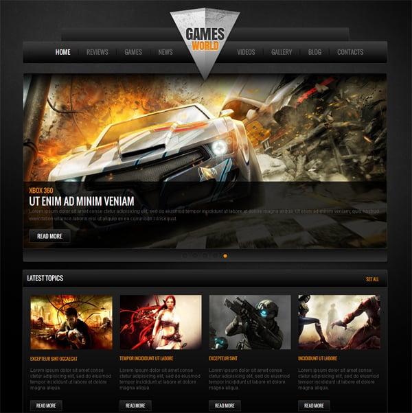 шаблоны для html сайта игровые