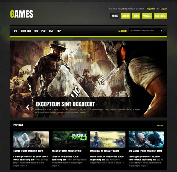 шаблон игровой сайт wordpress
